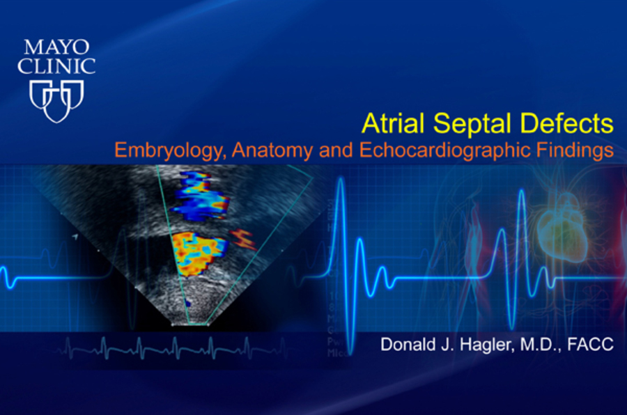 Atrial Septal Defects - Embryology, Anatomy and Echocardiographic Findings