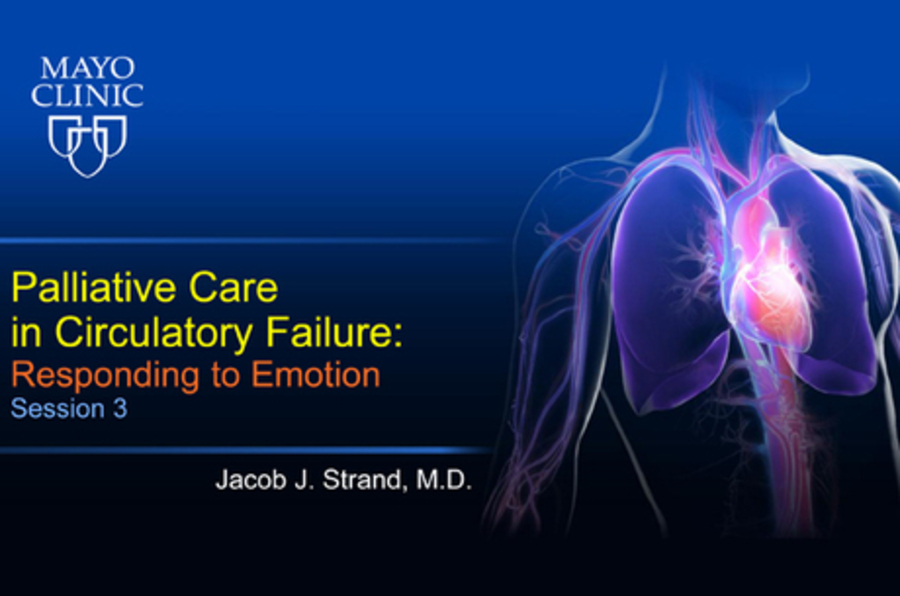 Palliative Care in Circulatory Failure: Session 3 - Responding to Emotion